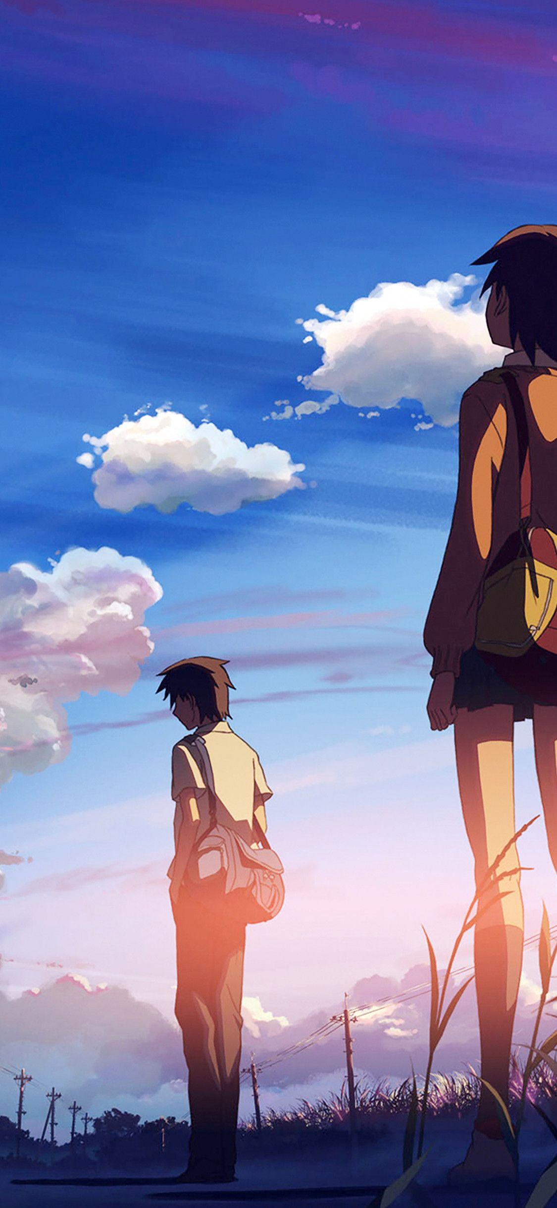 Gambar Anime Romantis Wallpaper Dengan Gambar