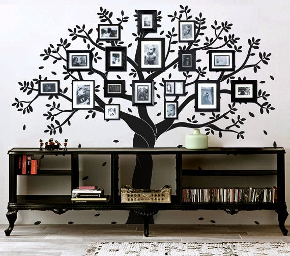 Tree wall decal Family photo tree wall decal by newpoint on Etsy ...