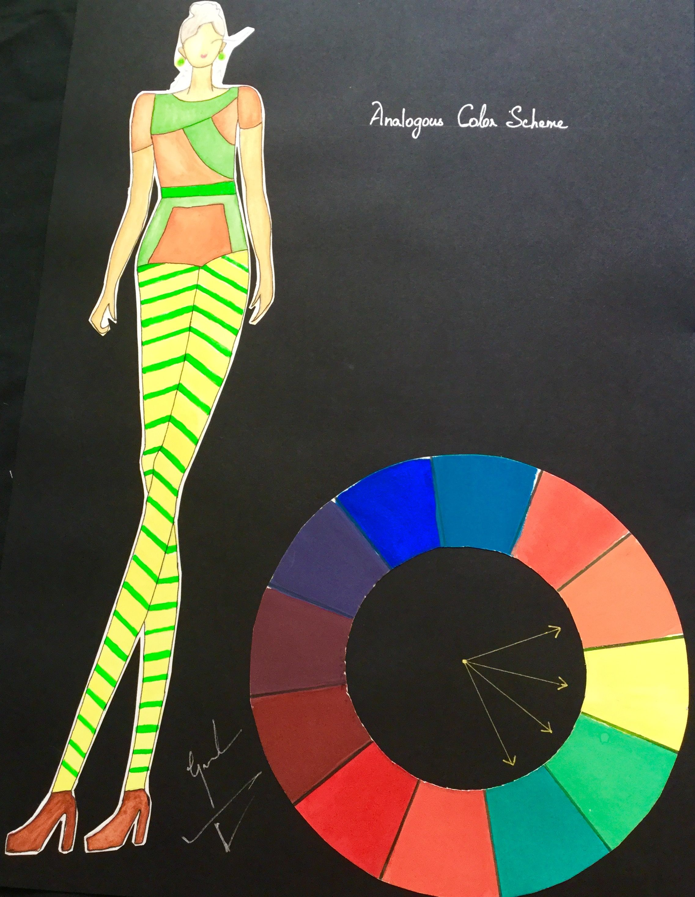 Analogous Colour Color Theory Fashion Illustration Color