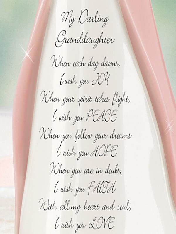 Quot Darling Granddaughter I Wish You Quot Angel Figurine