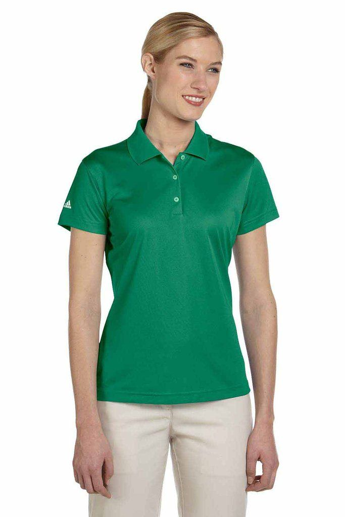 9f1f8eb1 Adidas Womens Climalite Moisture Wicking Short Sleeve Polo Shirt in ...