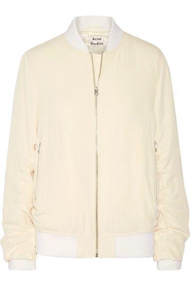 5fde5e0ece430 ACNE STUDIOS Leia ruched twill bomber jacket.  acnestudios  cloth  jackets