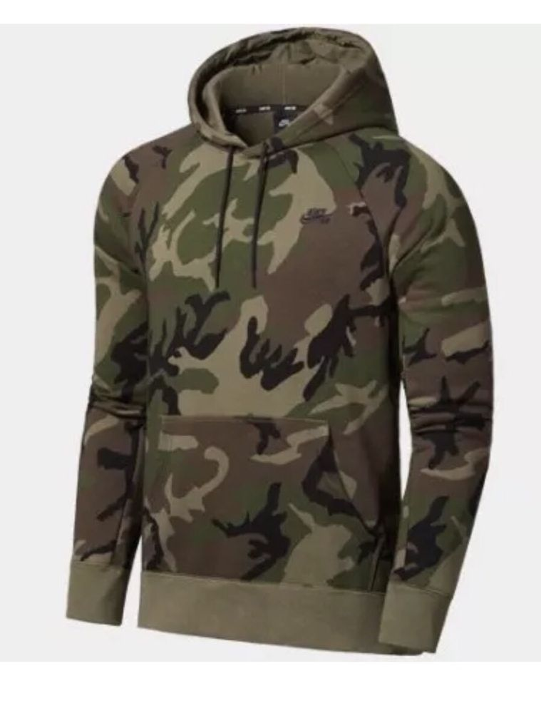 NIKE SB Icon Camo Hoodie Mens SZ L AH5514-222 Swoosh New  Nike  Hoodie a8f258369