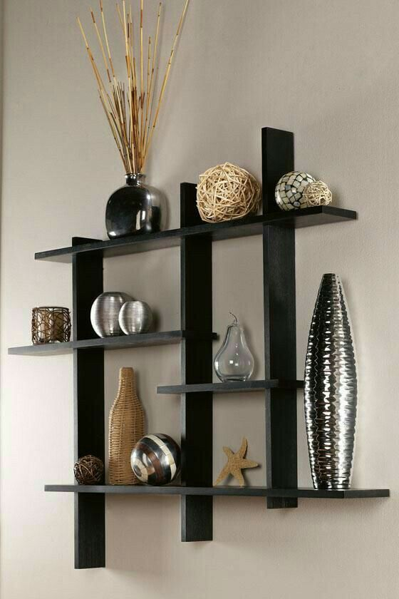Contemporary Display Shelf Wall Decorating Ideas Avec Images