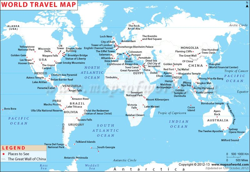 World travel maps world travel maps the world travel maps map showing famous travel destinations around the world you may find some of your favorite destinations enlisted in the map and recommend to add other gumiabroncs Gallery