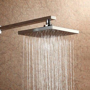 Quadratisch 20x20cm Regen Duschkopf Ein Grad Abs Shower Heads