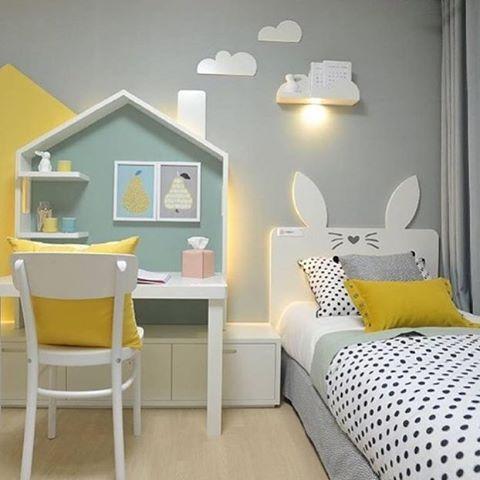 Belíssima inspiração para o quarto dos pequenos  Boa noite, gente!  Confira mais dicas de Casa & Decoração em nosso site: portaltrends.com.br [link no perfil] @portaltrends #kidsmeunovoapê  Foto: Reprodução/Pinterest