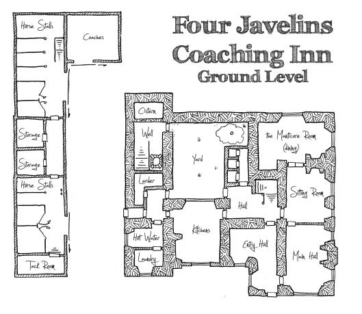 Friday Map The Four Javelins Coaching Inn Ground Level