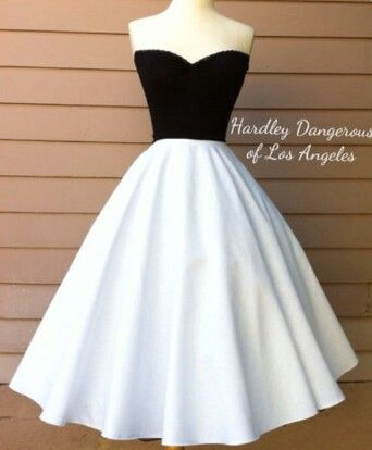 Black And White Teacup Dress