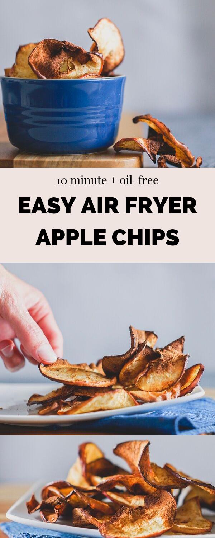 Easy Air Fryer Apple Chips Recipe Apple chips, Vegan