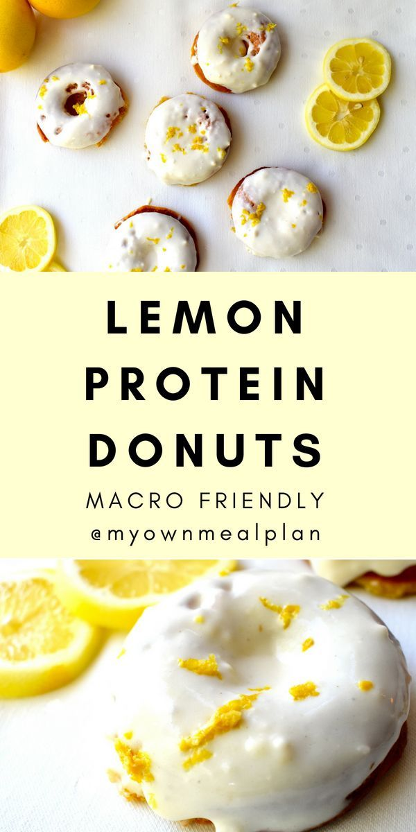 Lemon Protein Donuts #proteindonuts