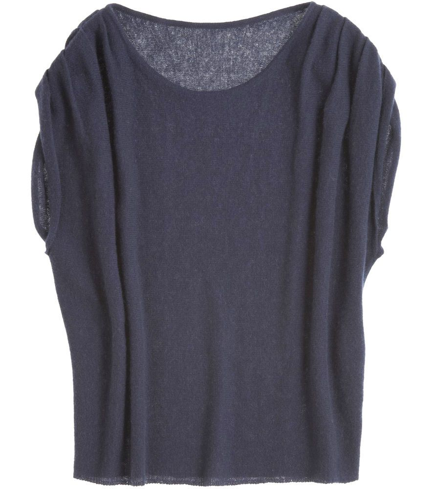 CALYPSO 100% CASHMERE Sweater JANINE Tunic Dolman Slouch Wedge Top ...
