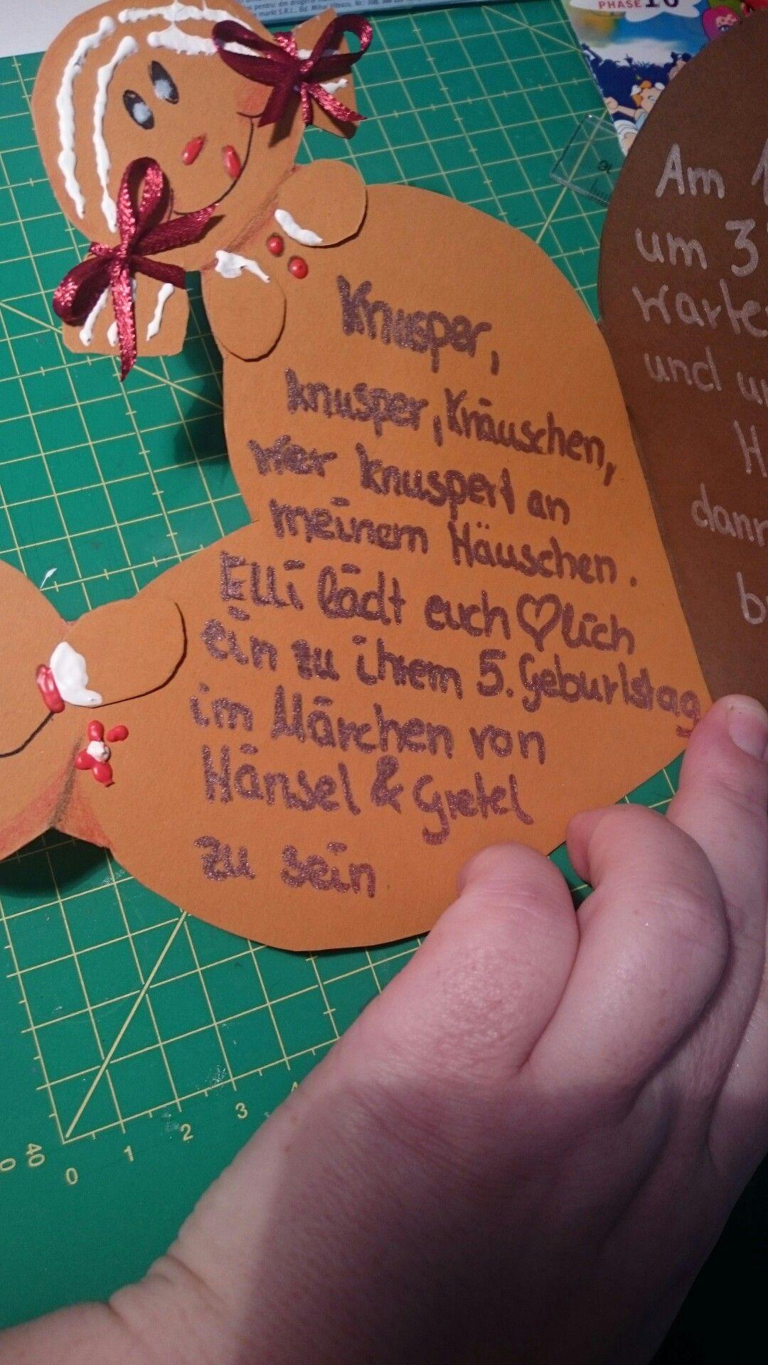 Hansel Und Gretel Einladung Kindergeburtstag Marchen Lebkuchen