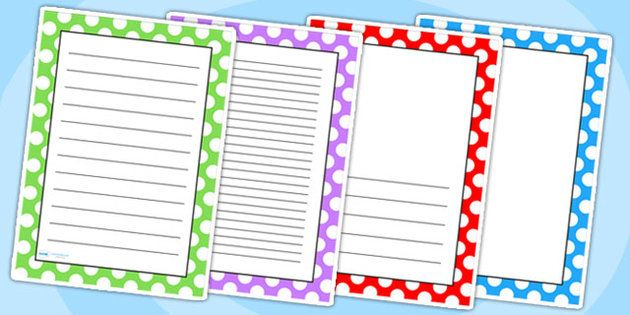 Polka dot page borders title pages pinterest activities polka dot page borders voltagebd Images