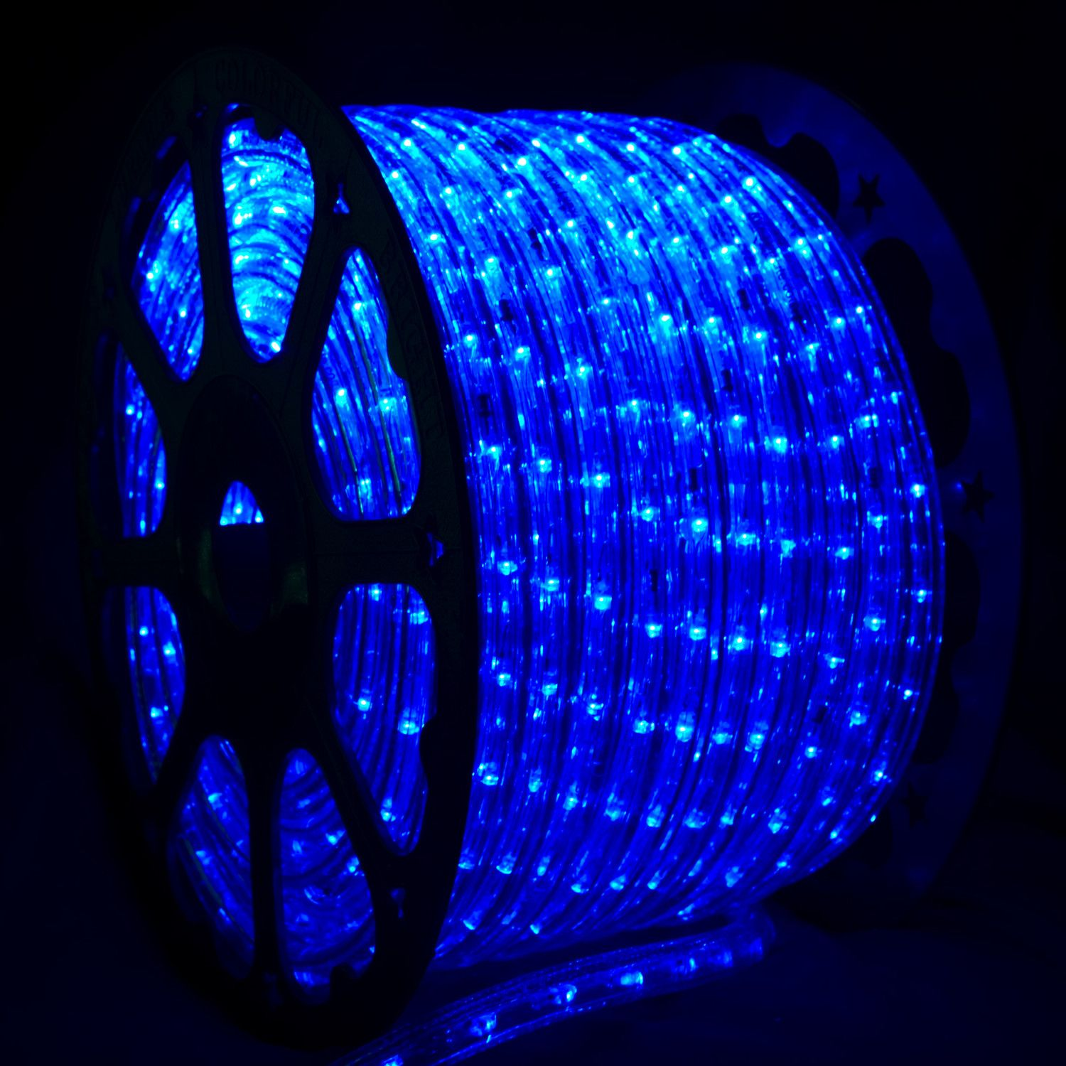 150 Blue Led Rope Light 2 Wire 1 2 120 Volt Led Rope Lights Rope Light Rope Lights