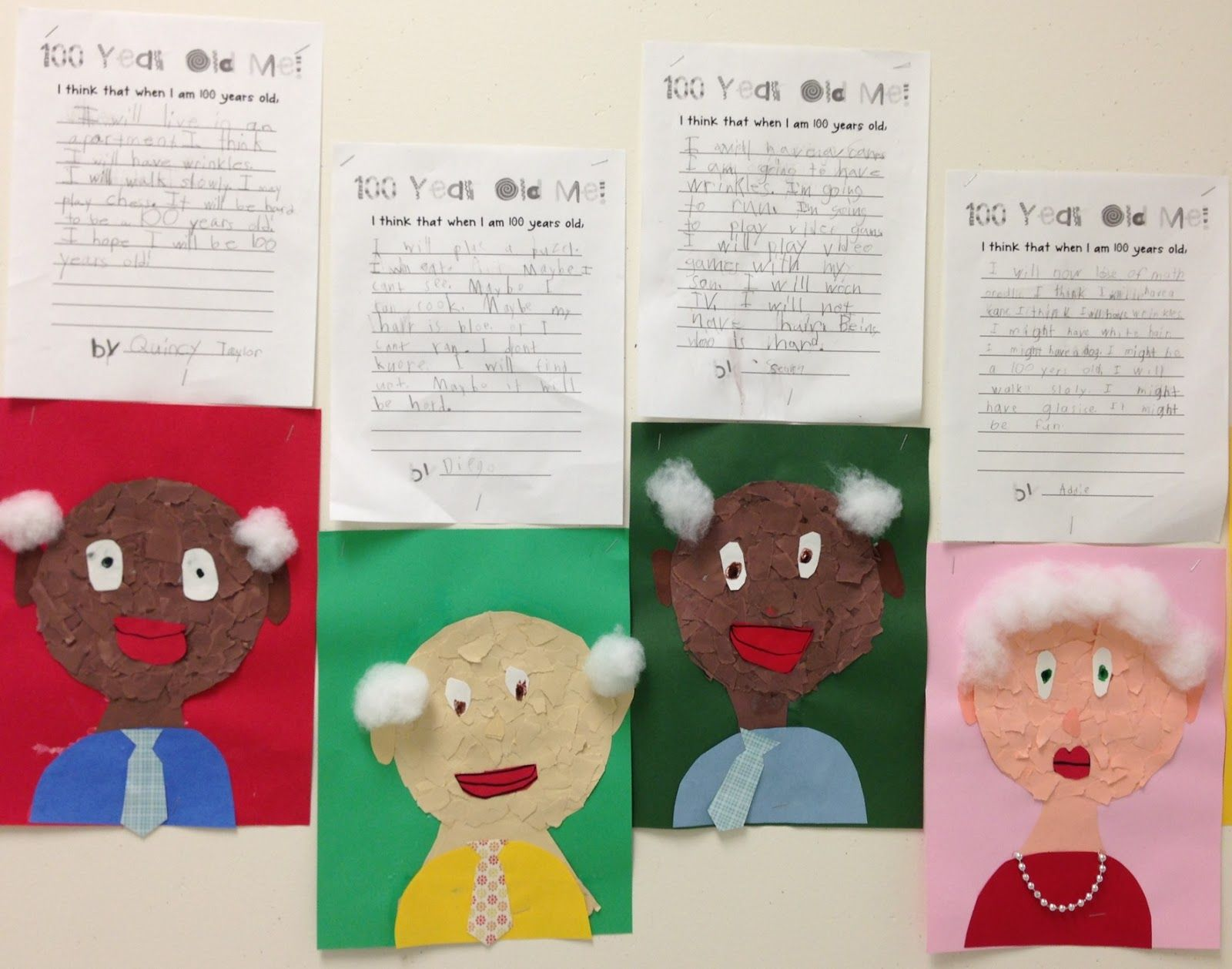 Apex Elementary Art: when I'm 100 years old | School stuff