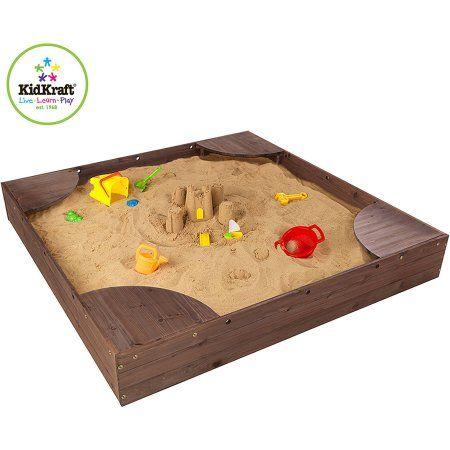 Kidkraft Backyard Sandbox Espresso Kids Sandbox Large