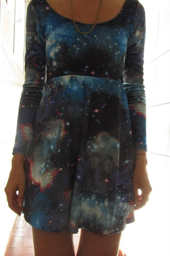 Galaxy Winter Dress ON SALE by eatmeclothing on Etsy, $12.00