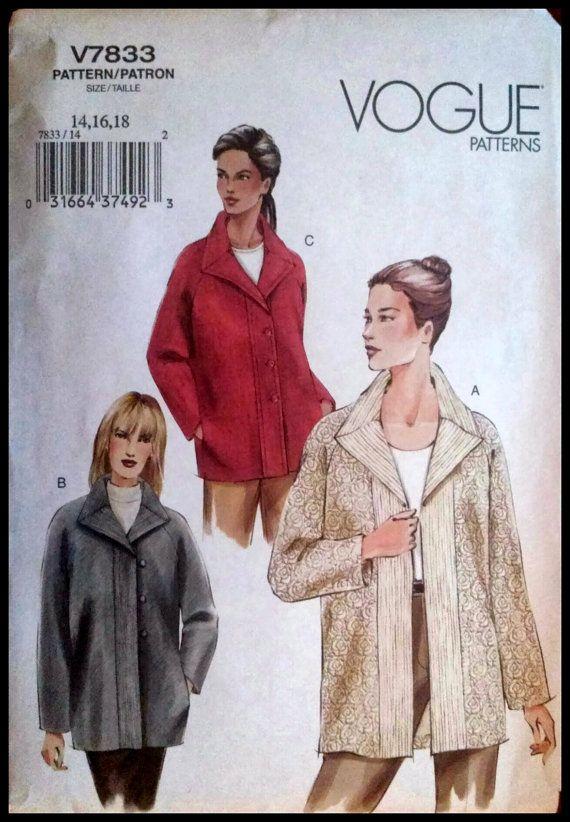 Vogue V7833  Misses'/ Misses' Petite Jacket   by ThePatternShopp, $12.00