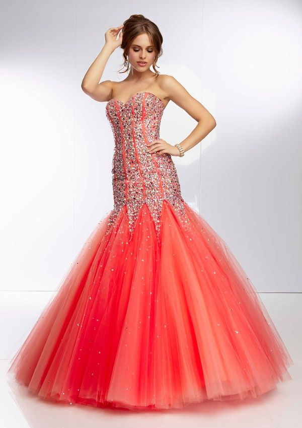 Paparazzi dress - Coral, Pink Panther - 95063 Jewel Beaded Bodice ...