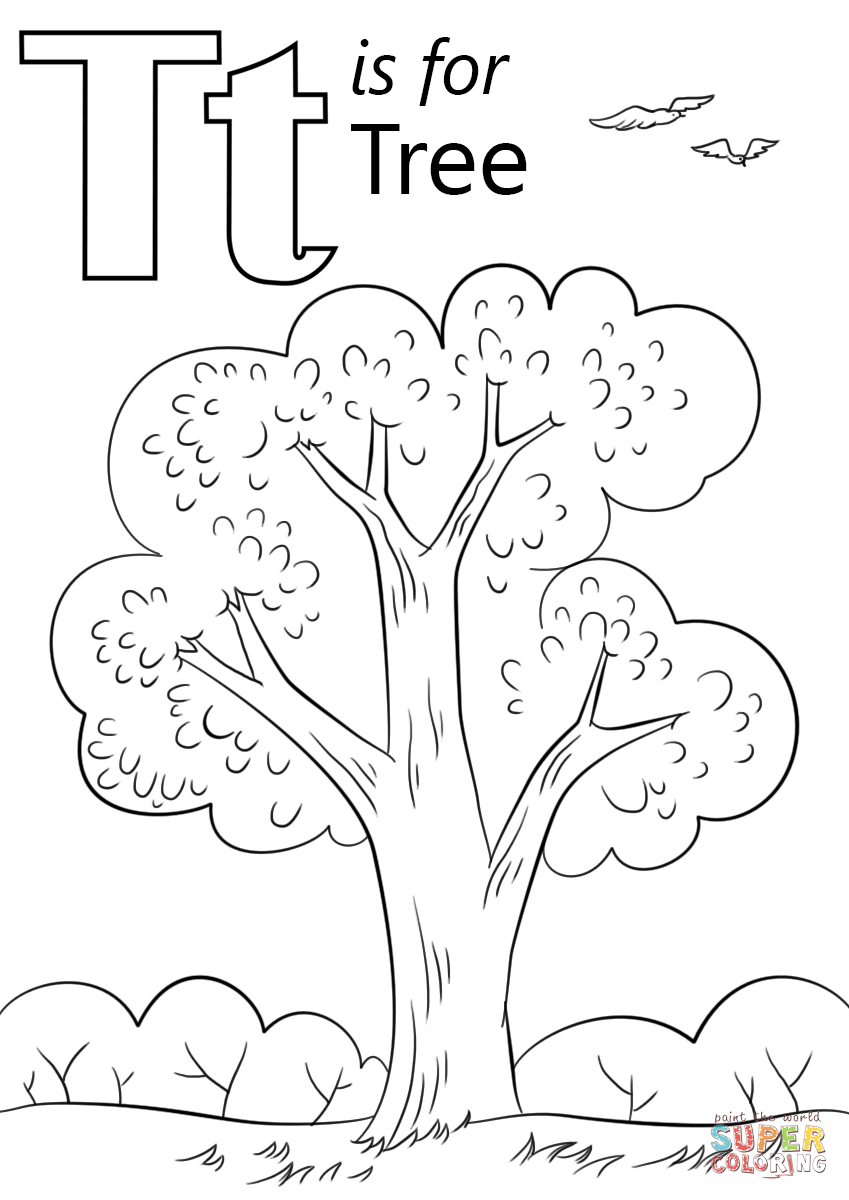 Letter T Is For Tree Coloring Page From Letter T Category Select From 29188 Printable Crafts Of Carto Abc Coloring Abc Coloring Pages Preschool Coloring Pages
