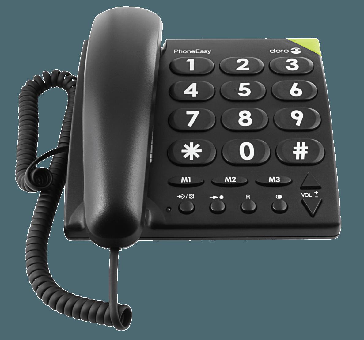 Doro Phoneeasy 311c Seniorentelefon Schwarz 07322460057459 Schnurgebundenes Telefon Mit Grossen Tast Mit Bildern Schnurlostelefon Schnurloses Telefon Telefon