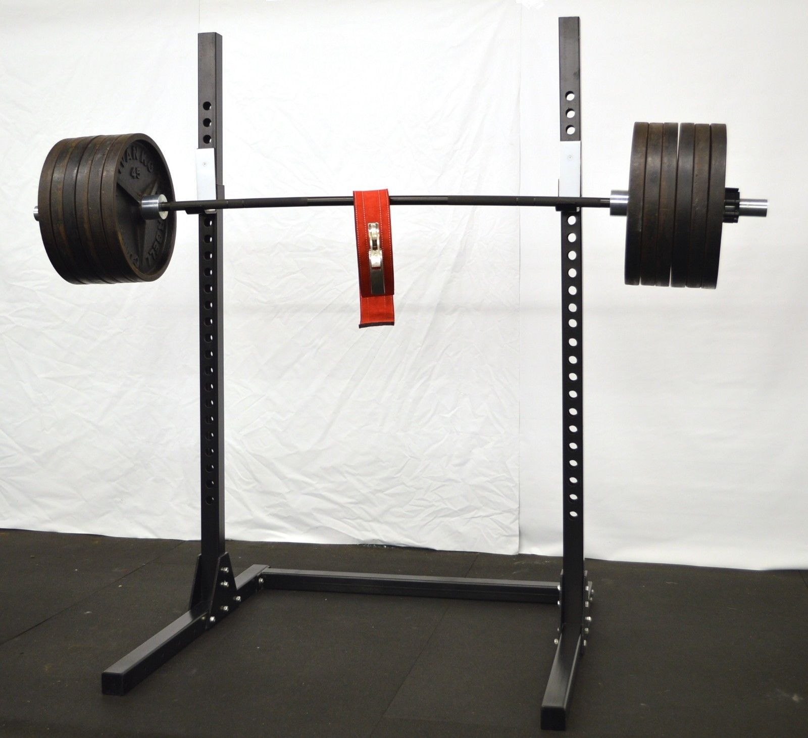powerrack rack commercial squat light weight deal package set adjustable olympic bench fincl wht power press