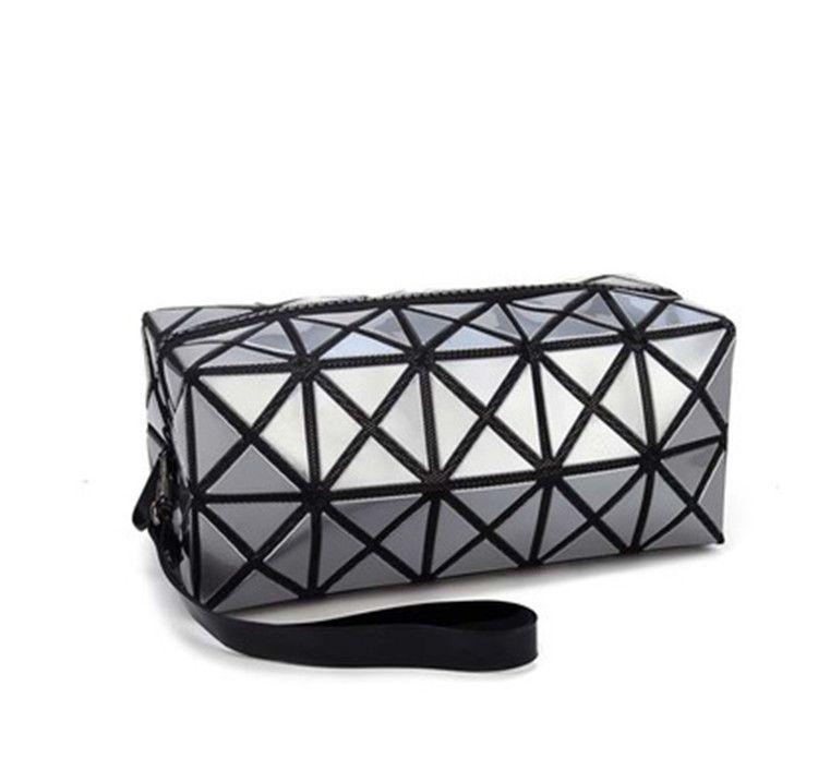 Fashion BaoBao Geometric Zipper Cosmetic Bags Women Mini Bolso PU Leather Makeup  Bag Ladies Cosmetics Organizer Bags For Girls 060dd7ed86944
