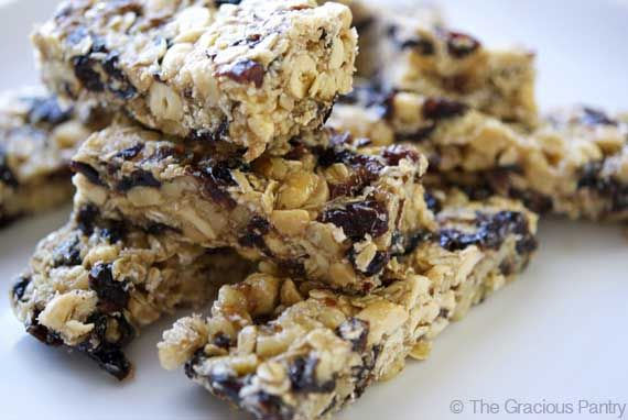 Clean Eating Nutty Coconut Granola Bars- Ingredients   1 cup walnut pieces   1 cup peanut halves   1 cups dried cranberries, fruit juice sweetened   1 cup traditional oats   1 tsp. ground cinnamon   3/4 cup dried coconut   1 cup organic brown rice syrup   1/4 cup honey   1 tsp. vanilla extract