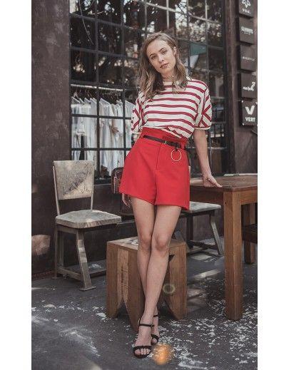 f8e2c5a31 Shorts Clochard Vermelho Primavera verão 2018 - Tendências de moda-  3  Fashion