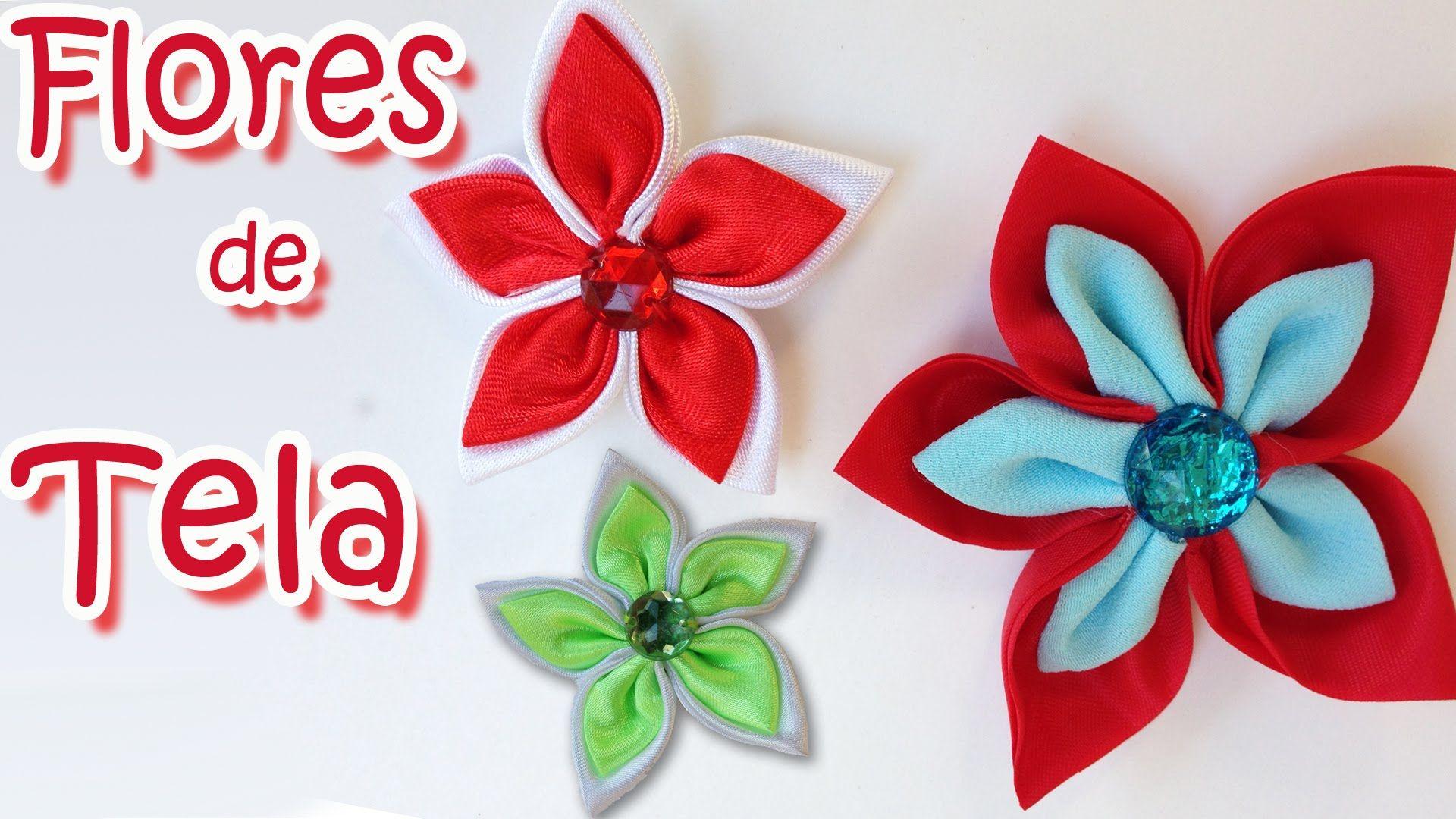 Manualidades como hacer flores de tela manualidades - Como hacer cuadros de tela ...
