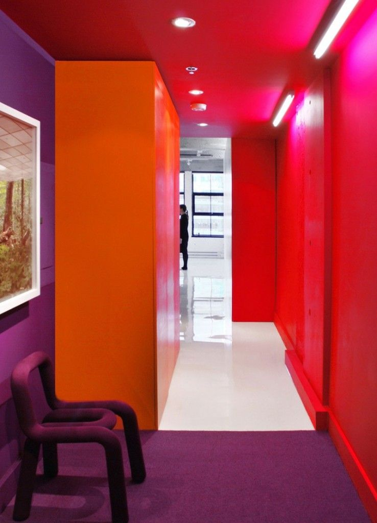 Purple And Red Room Ideas Bright Colored Orange Painting