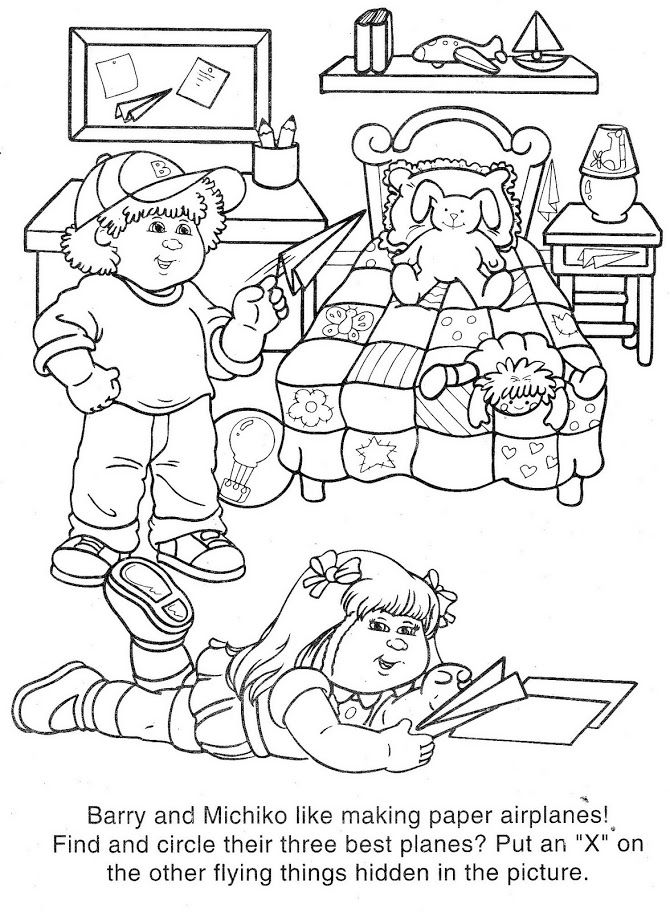 Cabbage Patch Kids Childrens Coloring Books Pinterest