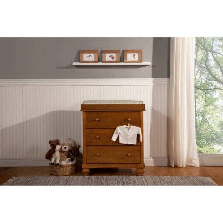 Clover 3-Drawer Changer Dresser w/Removable Changing Tray, Choose Your Finish, Brown