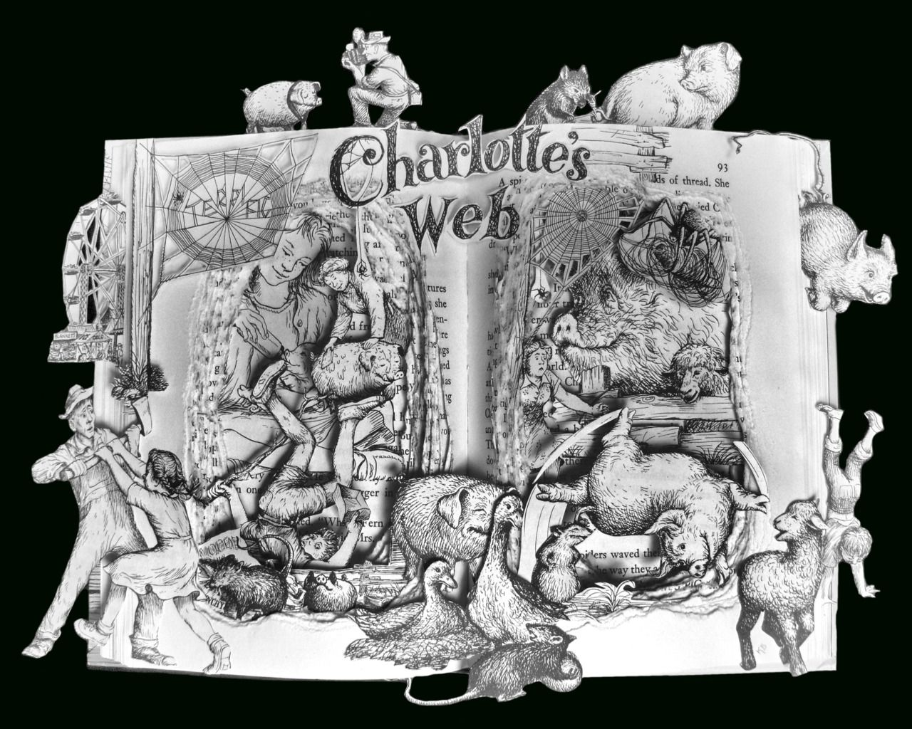 Ahhmazing Charlotte's Web Altered Book