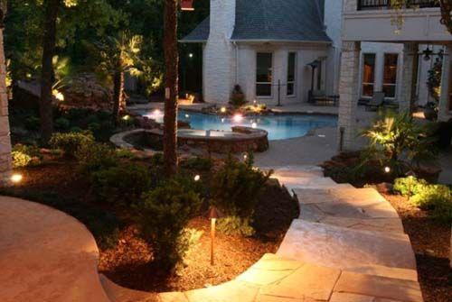 Romantic Outdoor Landscape Lighting Landscape Lighting Design Outdoor Landscaping Landscape Lighting