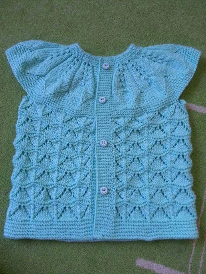 Pin by Hayriye. Sağ on elişi | Pinterest | Baby vest, Crochet ...