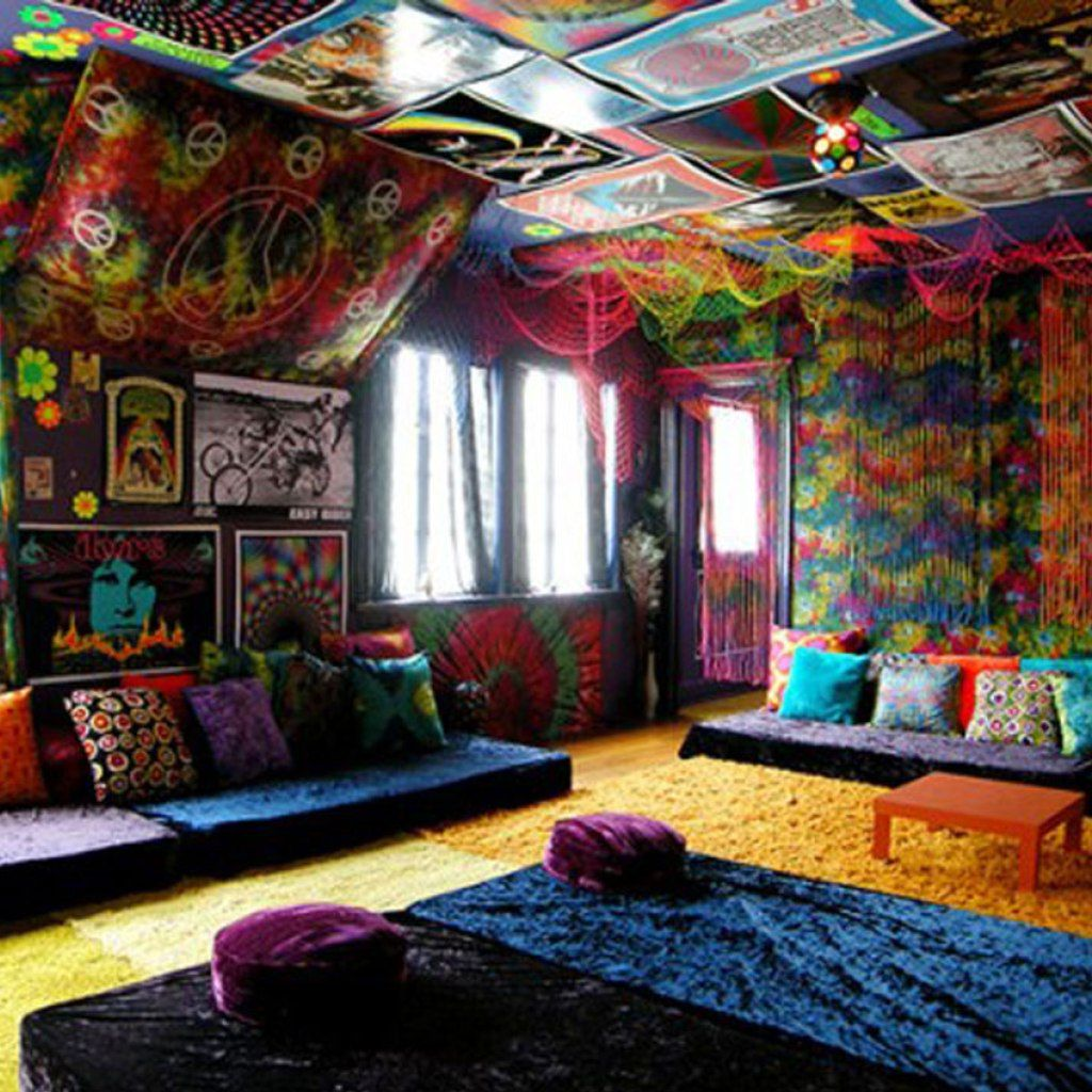 bohemian hippie room decor home decor ideas unique hippie room with ...