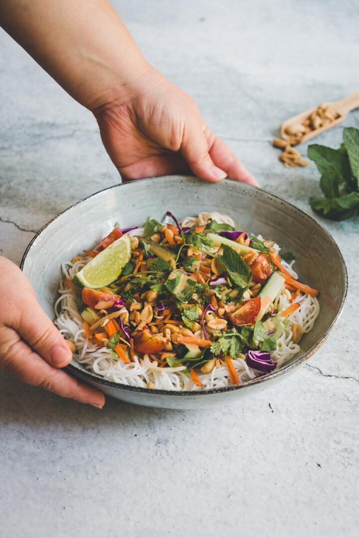 Salad like vegan spring rolls - Lemon Rose - Cuisine -