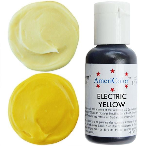 Electric (NEON) Yellow Gel Paste Food Coloring COLOURS - food coloring chart