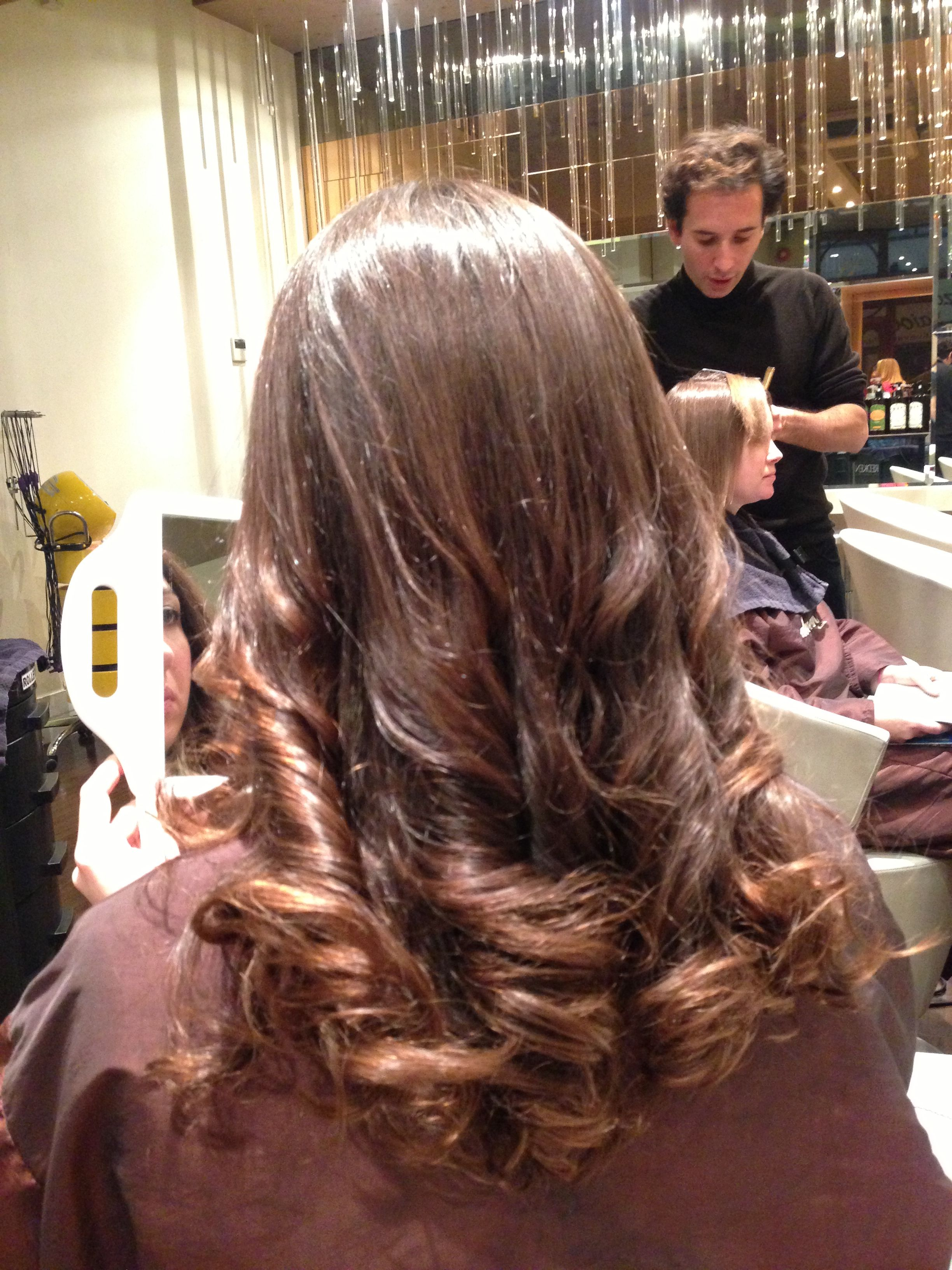 Digital Perm By Paimore Roots Straightened And Ends Curled As