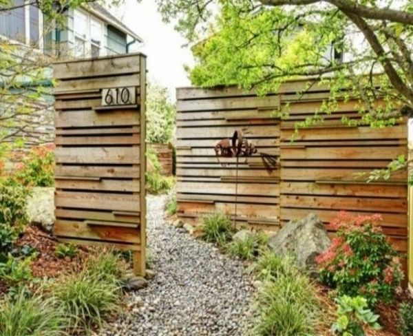 Holzwand garten privacy screen ideas pinterest - Holzwand garten ...