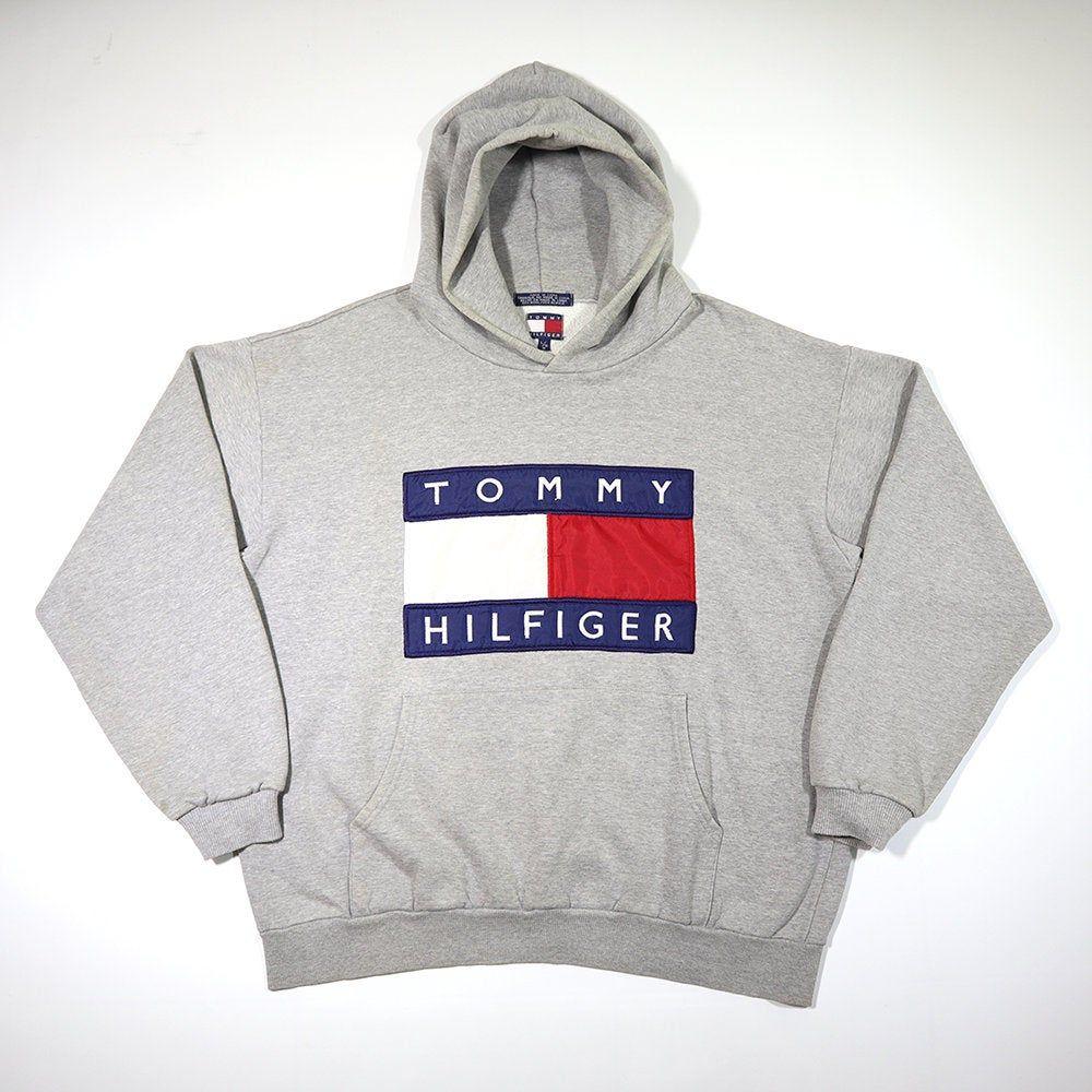 TOMMY HILFIGER 80s 90s Pullover Jumper Hoodie Sweatshirt