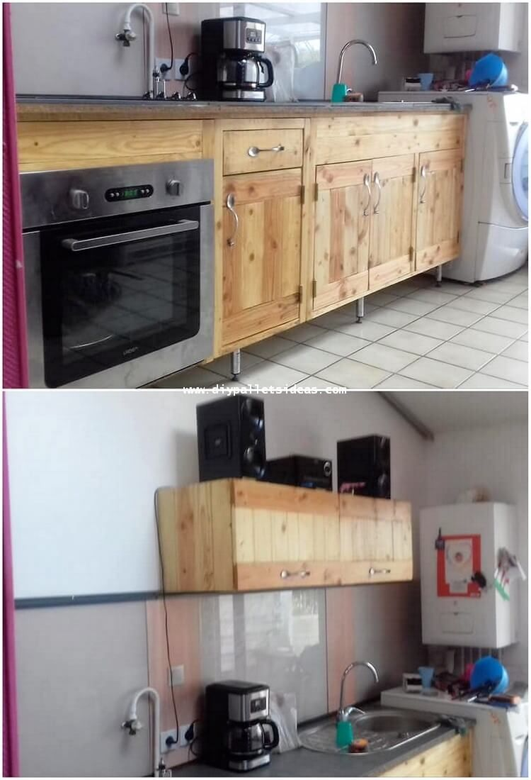 This Pallet Kitchen Cabinets Design Is Much Creatively Designed Out With Simplicity Versions Into It Within This Cabinet Creation You Will View The Stacking O