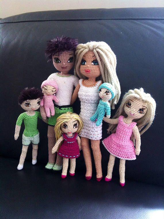 Pattern doll body doll family