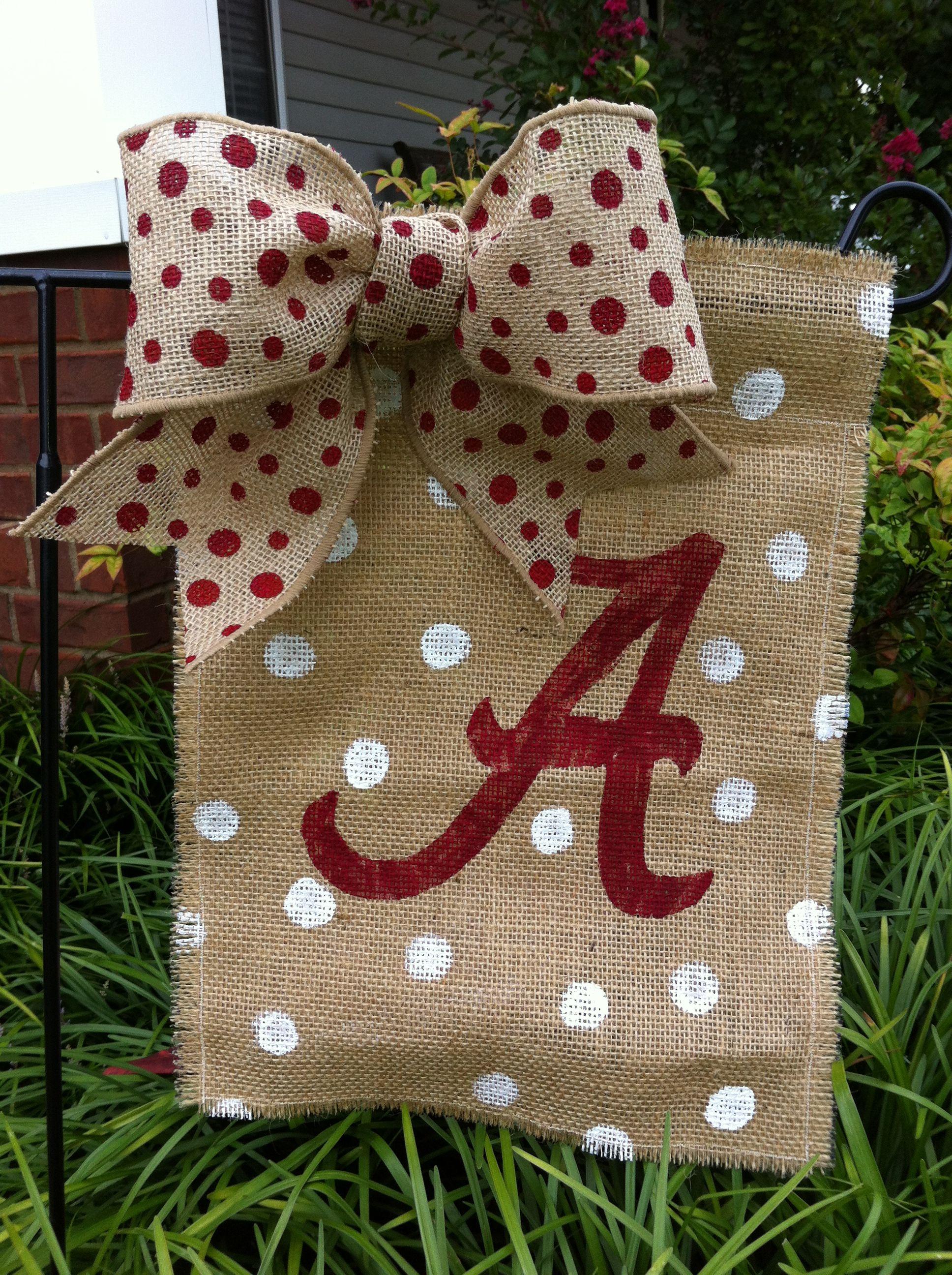 Alabama yard flag | crafts I have made | Pinterest | Alabama, Flags ...