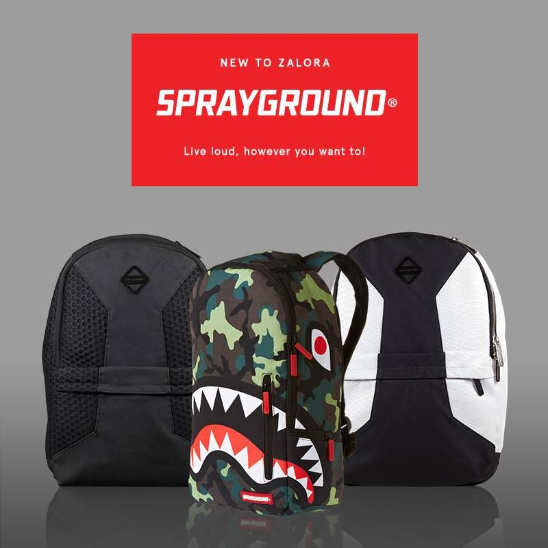 New On Zalora Sprayground Bags With Funky Designs And Various Compartments To House All Your Belongings Shopping Vouchers Funky Design Bags