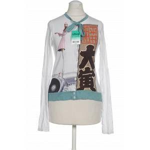 Custo Barcelona Damen Bluse weiß Baumwolle Seide INT XXS