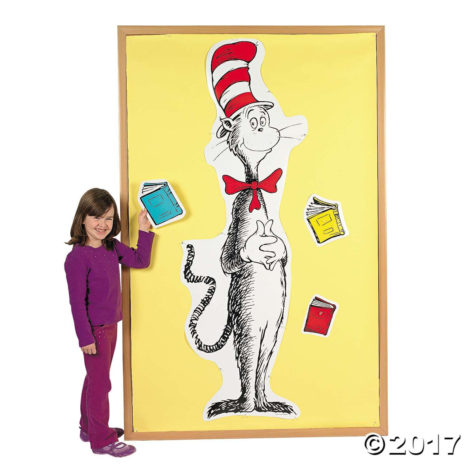 Dr. Seuss™ Giant Cat in the Hat™ Bulletin Board Set | Turning 2 with ...