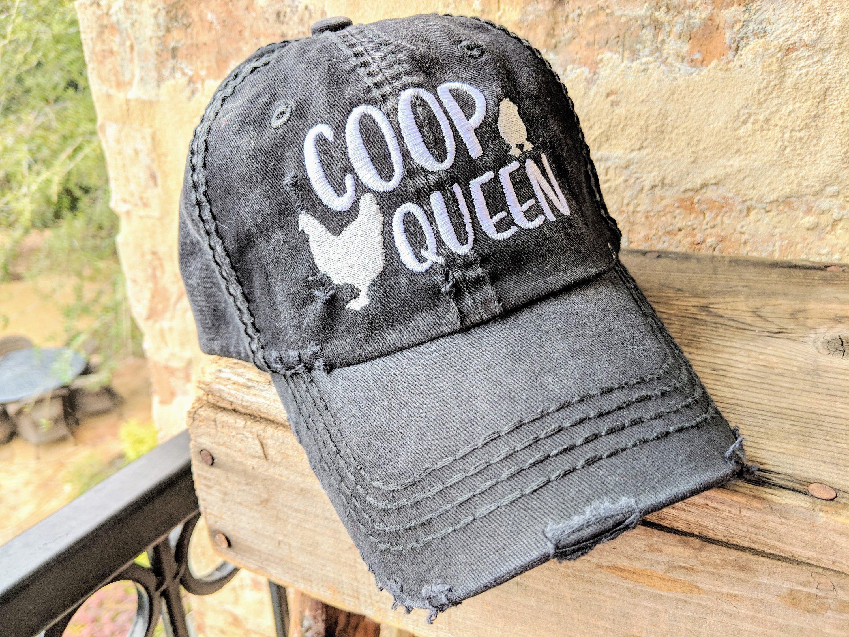 Women's Custom Chicken Hat, Coop Queen Hat, Gift for Chicken Owner, Chicken Clothing, Chicken Birthday Gift, Chickens, Chicken Fashion